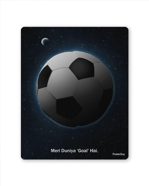 Mouse Pads | Meri Duniya Goal Hai Football Mouse Pad Online India | PosterGuy.in