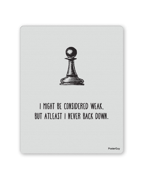 Mouse Pads | Never Back Down Chess Motivational Mouse Pad Online India | PosterGuy.in