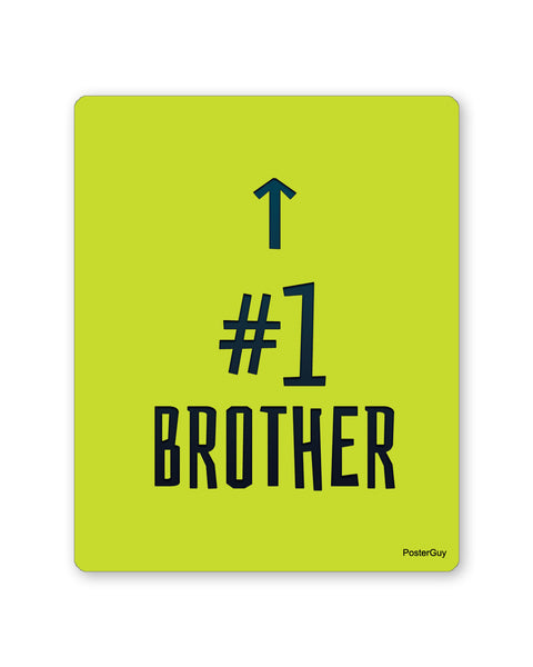 Mouse Pads | Number 1 Brother Mouse Pad Gift for Brother Online India | PosterGuy.in