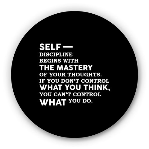 Self Discipline Begins With THE MASTERYOf Thoughts Motivational Fridge Magnet Online India