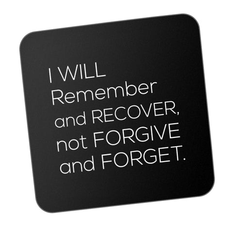 Remember And Recover Motivational Coaster Online India