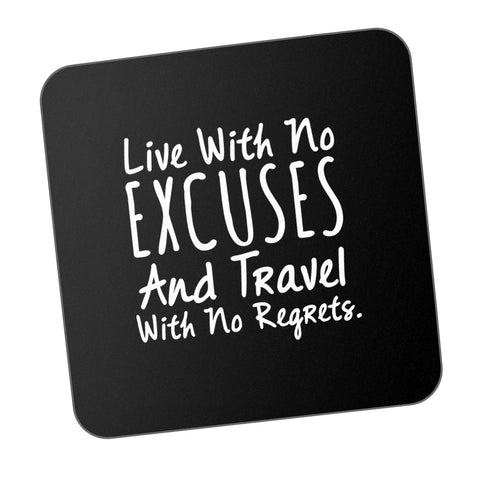 Live Travel No Regrets Motivational Coaster Online India