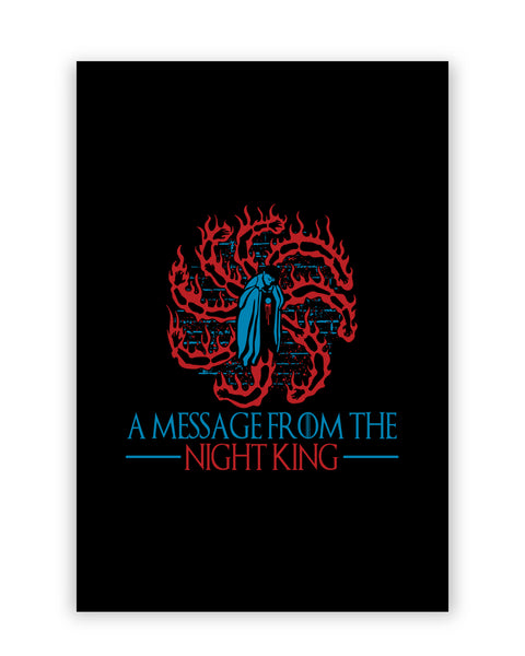 A Message From The Night King Game Of Thrones White Walkers Army Of The Dead Poster Online India