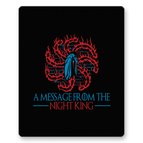 A Message From The Night King Game Of Thrones White Walkers Army Of The Dead Mousepad Online India