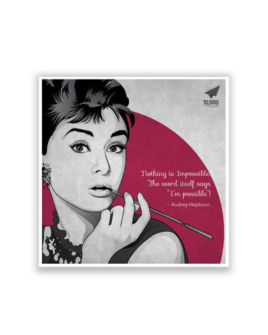 Buy Motivational Posters Online | NASSCOM 10000 Startups 'Audrey Hepburn' quote MotivationalPoster | PosterGuy.in