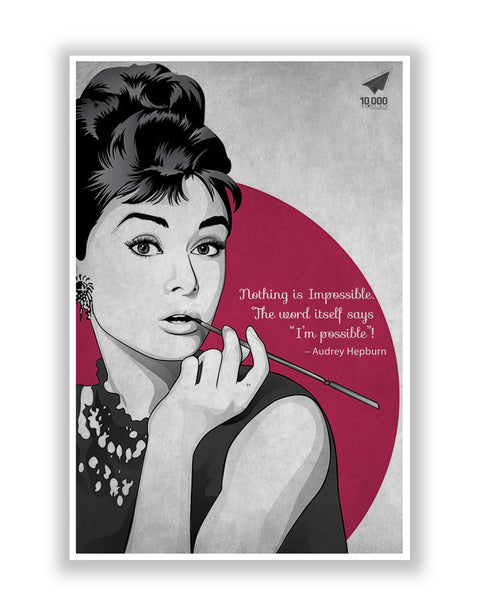 Buy Motivational Posters Online | NASSCOM 10000 Startups 'Audrey Hepburn' Quote Motivational Poster | PosterGuy.in
