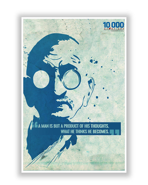 Buy Motivational Posters Online | NASSCOM 10000 Startups 'Mahatma Gandhi' Quote Motivational Poster | PosterGuy.in