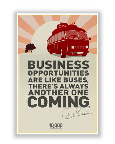 Buy Motivational Posters Online | NASSCOM 10000 Startups 'Richard Branson' Inspirational Quote Poster | PosterGuy.in