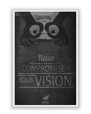 Buy Motivational Posters Online | NASSCOM 10000 Startups 'Vision' Quote Poster | PosterGuy.in