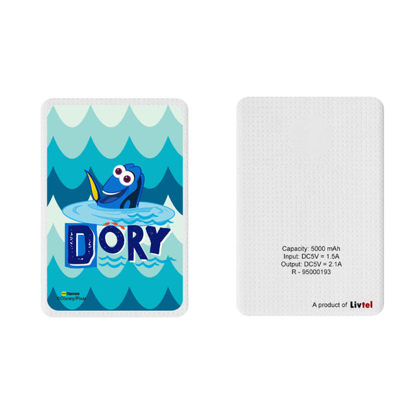 Livtel x Hamee Disney Pixar Licensed Finding Dory 5000 mAh PowerBank with LED indicators and Reversible Micro-USB cable (Dory / Abstract)