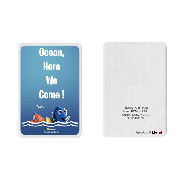 Livtel x Hamee Disney Pixar Licensed Finding Dory 5000 mAh PowerBank with LED indicators and Reversible Micro-USB cable (Dory Nemo / Ocean)