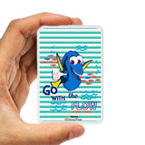Livtel x Hamee Disney Pixar Licensed Finding Dory 5000 mAh PowerBank with LED indicators and Reversible Micro-USB cable (Dory / Stripes)