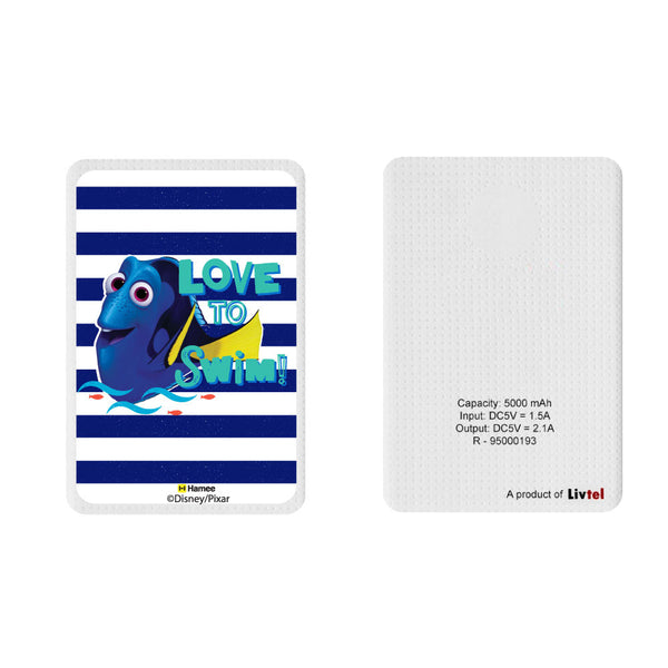 Livtel x Hamee Disney Pixar Licensed Finding Dory 5000 mAh PowerBank with LED indicators and Reversible Micro-USB cable (Dory / Love)