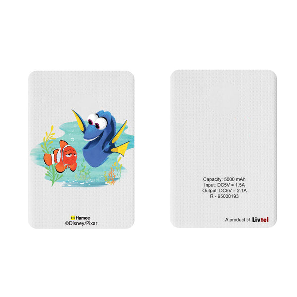 Livtel x Hamee Disney Pixar Licensed Finding Dory 5000 mAh PowerBank with LED indicators and Reversible Micro-USB cable (Marlin Dory)