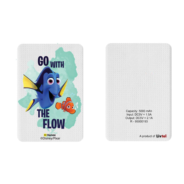 Livtel x Hamee Disney Pixar Licensed Finding Dory 5000 mAh PowerBank with LED indicators and Reversible Micro-USB cable (Go With The Flow / Dory)