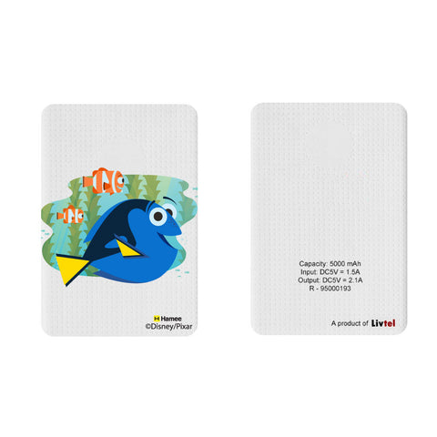 Livtel x Hamee Disney Pixar Licensed Finding Dory 5000 mAh PowerBank with LED indicators and Reversible Micro-USB cable (Dory Nemo Marlin / Plants)