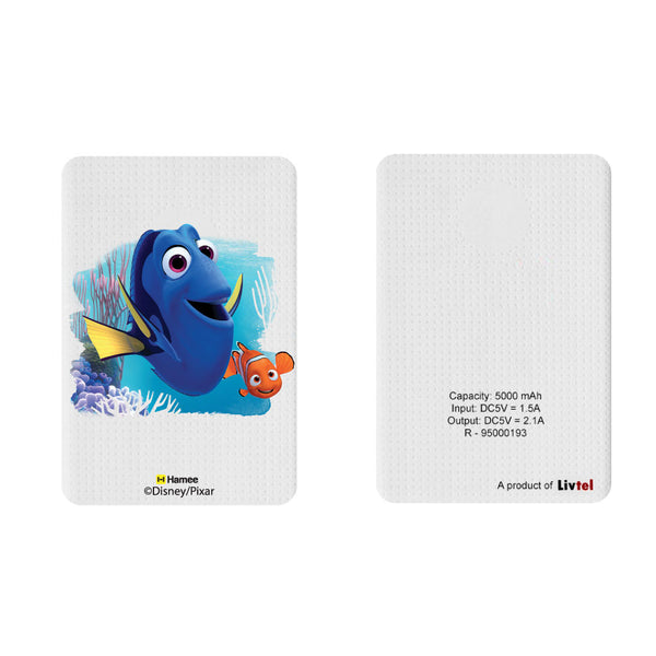 Livtel x Hamee Disney Pixar Licensed Finding Dory 5000 mAh PowerBank with LED indicators and Reversible Micro-USB cable (Dory Nemo)