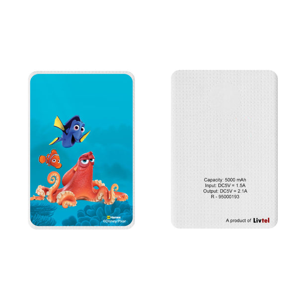 Livtel x Hamee Disney Pixar Licensed Finding Dory 5000 mAh PowerBank with LED indicators and Reversible Micro-USB cable (Nemo Hank Dory)