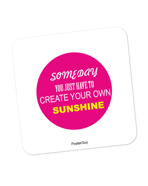 Create Your Own Sunshine Motivational Coaster Online India