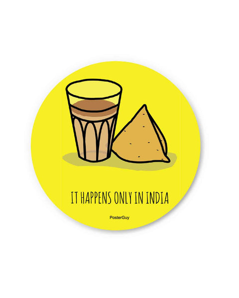 Tea and Samosa Fridge Magnet