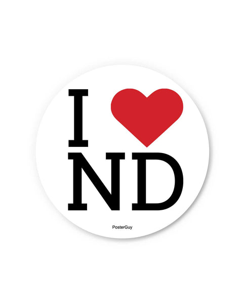 I Love India New Delhi Fridge Magnet