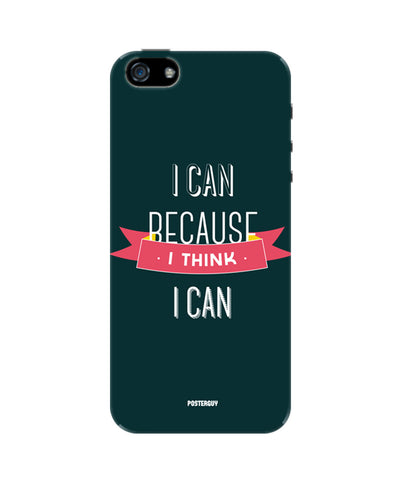 I Can Because I Think I Can Green Motivational iPhone 5/5S Case