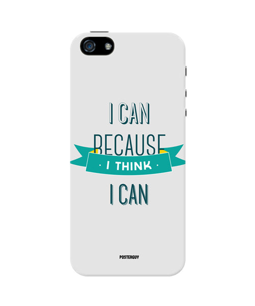I Can Because I Think I Can Grey Motivational iPhone 5/5S Case