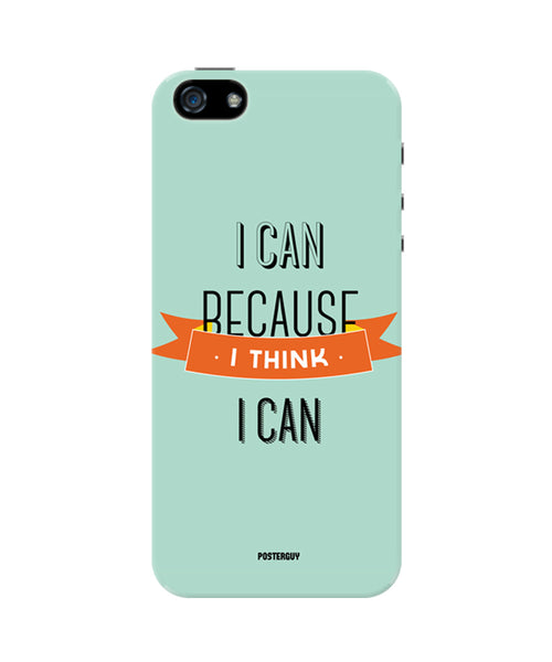 I Can Because I Think I Can Blue Motivational iPhone 5/5S Case