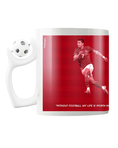 Chirstiano Ronaldo CR7 FIFA Football Rotating Mug