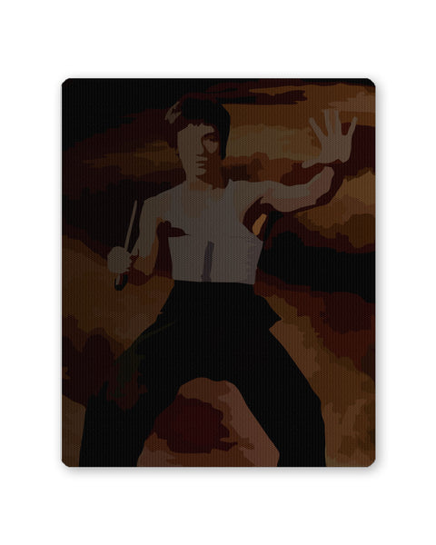 Mouse Pads | Bruce Lee Designer Art Painting Mouse Pad Online India | PosterGuy.in