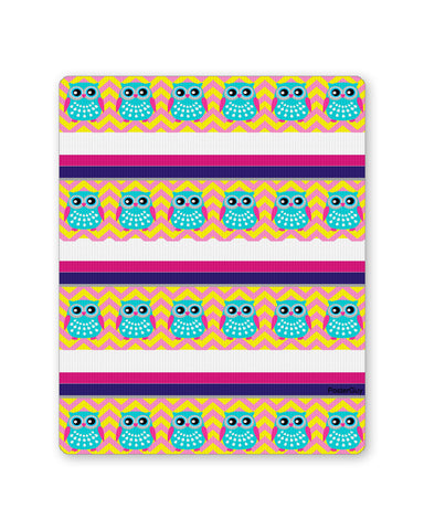 Mouse Pads | Colourful Owl Wrap Mouse Pad Online India | PosterGuy.in