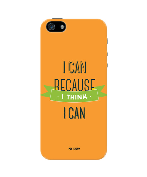 I Can Because I Think I Can Orange Motivational iPhone 5/5S Case