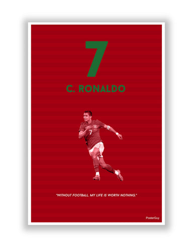 Buy Sports Posters Online | Passion for Football Christiano Ronaldo Poster | PosterGuy.in