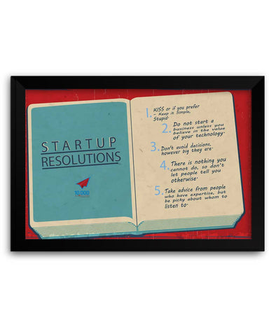 Framed Poster | NASSCOM 10000 Startups 'Startup Resolutions' Matte Laminated Framed Poster PosterGuy.in