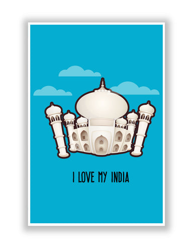 Buy Posters Online | Taj Mahal I Love My India Poster | PosterGuy.in
