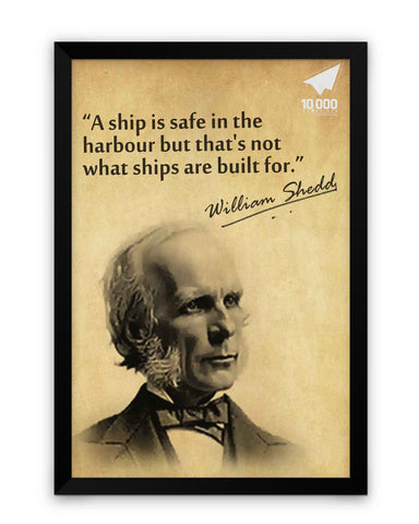 Framed Poster | NASSCOM 10000 Startups 'William Shedds' Quote Matte Laminated Framed Poster PosterGuy.in