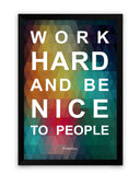 Framed Poster | Work Hard Motivational Quote Matte Laminated Framed Poster PosterGuy.in