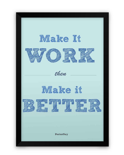 Framed Poster | Make it Work Quote Matte Laminated Framed Poster PosterGuy.in