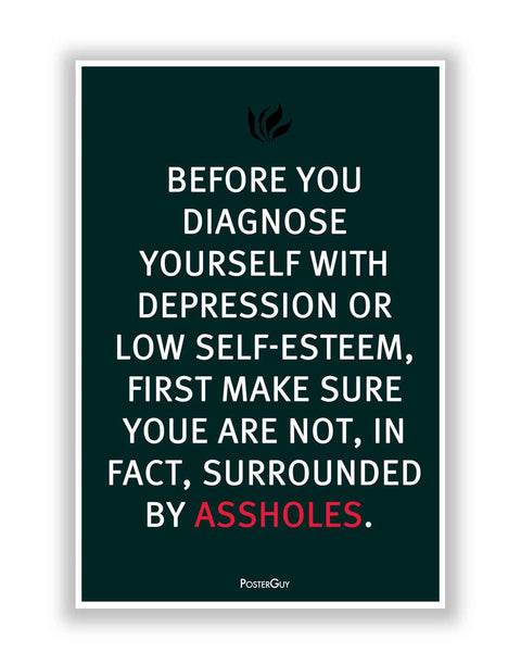 Buy Motivational Posters Online | Stay Away from Assholes Quote Motivational Poster | PosterGuy.in