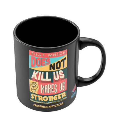 NASSCOM Stronger Quote Black Mug