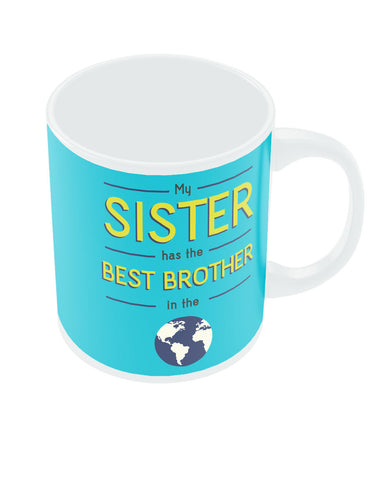 Best Brother Blue Rakhi/Raksha Bandhan Gift Coffee Mug