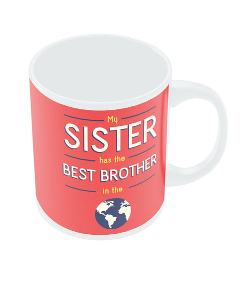 Best Brother Red Rakhi/Raksha Bandhan Gift Coffee Mug