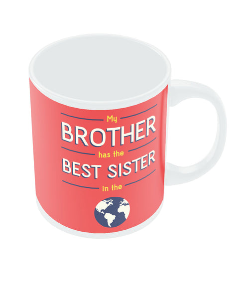 Best Sister Red Rakhi/Raksha Bandhan Gift Coffee Mug