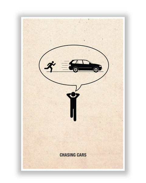 Buy Music Posters Online | Snow Patrol Chasing Cars Inspired Poster | PosterGuy.in