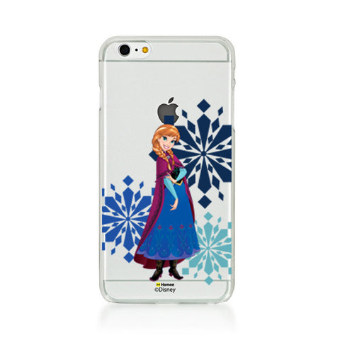 Disney Princess Frozen (Clear / Anna Snowflakes) iPhone 5 / 5S Cases