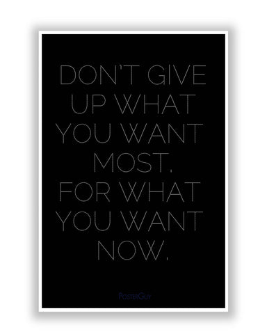 Buy Motivational Posters Online | Don't Give Up Motivational Quote Poster | PosterGuy.in