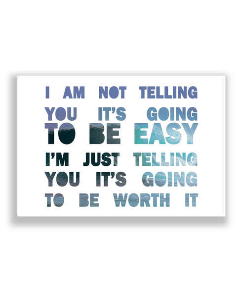 Buy Motivational Posters Online | Never Easy Quote Poster | PosterGuy.in