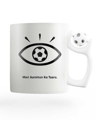 Meri Aankhon ka Tara Rotating Football Mug