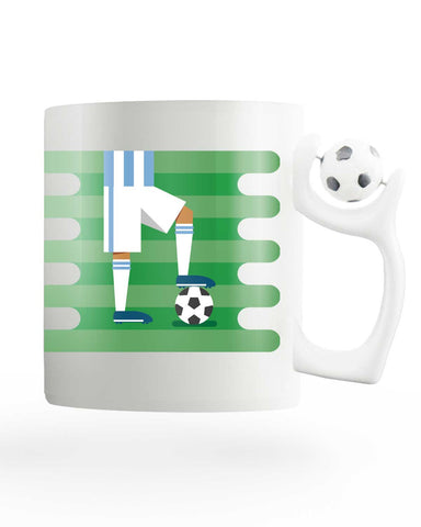 Argentina Field Rotating Football Mug