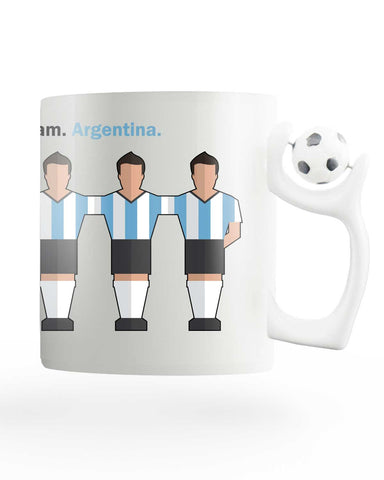 Team Argentina Rotating Football Mug